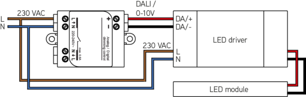 0/1-10V / DALI interface - Connected Light - LEDsGO on