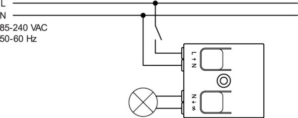trailing edge dimmer - connected light